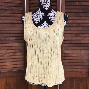 St. John Yellow Beaded Top